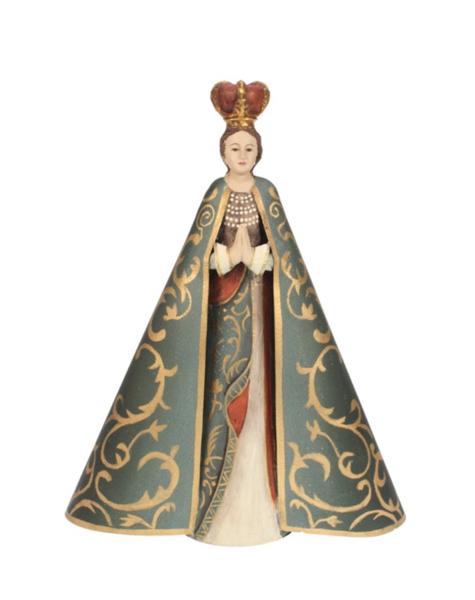 Marienfigur in Gold Grün - H32 cm