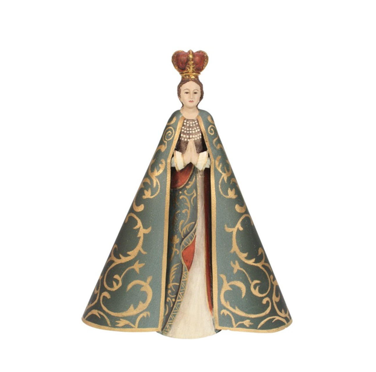 Mary statue in gold green - H32 cm