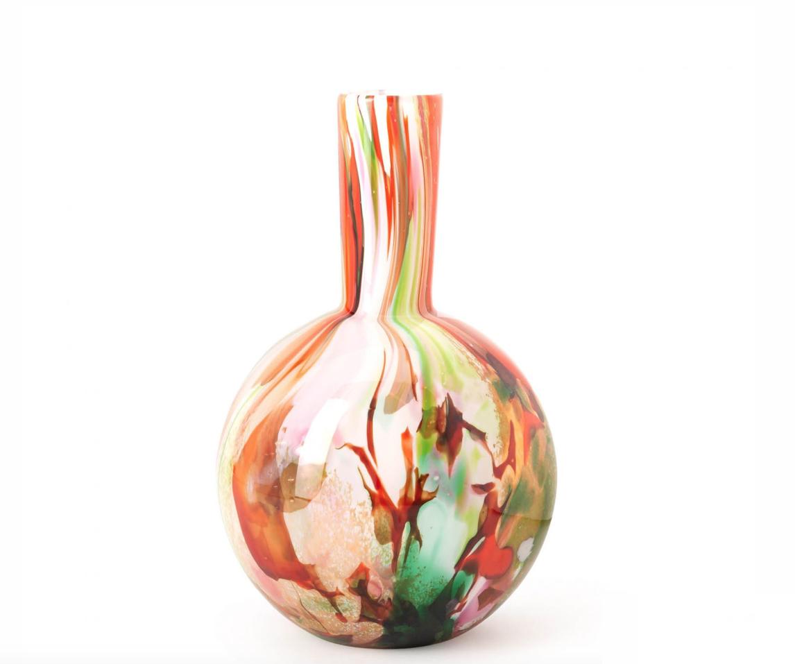 Fidrio Ball vase mixed colors - H40 cm