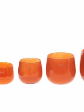 DutZ Glazen potten oranje