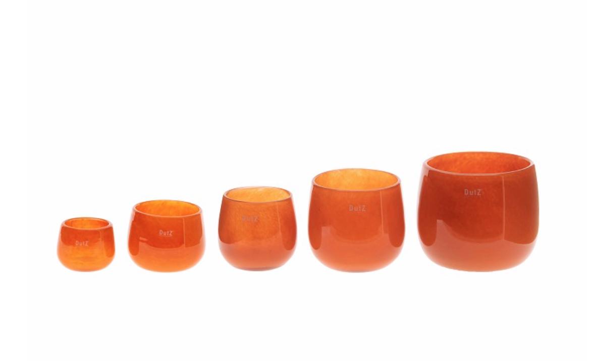 DutZ Glazen potten oranje - H6 / H7 /H11 / H14 /H18 cm