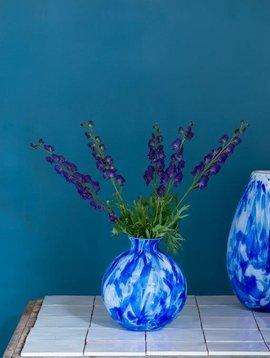 Fidrio Ball vase delfts blue