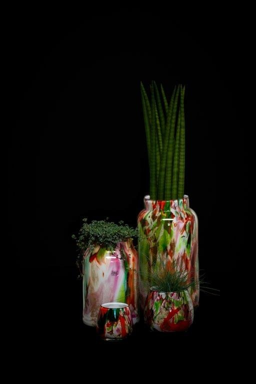 Fidrio Vase Bloom Large Mixed Colors - H30 cm
