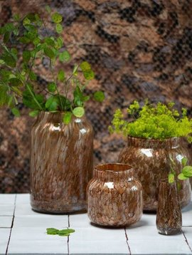 Fidrio Glazen vaas bloom gold