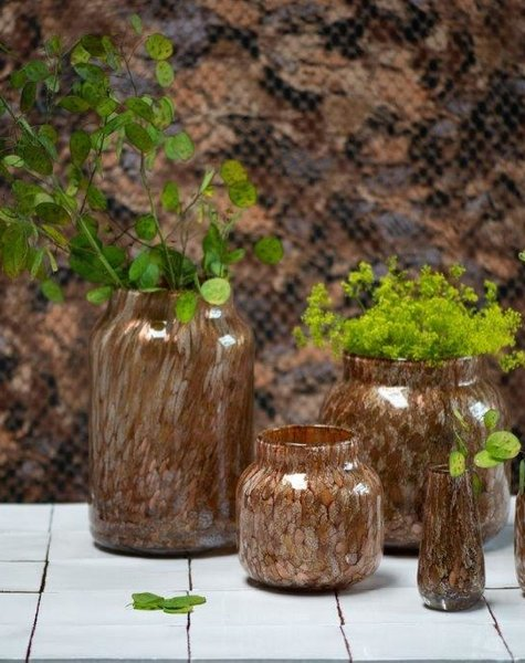 Fidrio Glazen vaas bloom gold - H30 cm