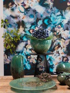 Fidrio Grune Glasvase Floral Fiji