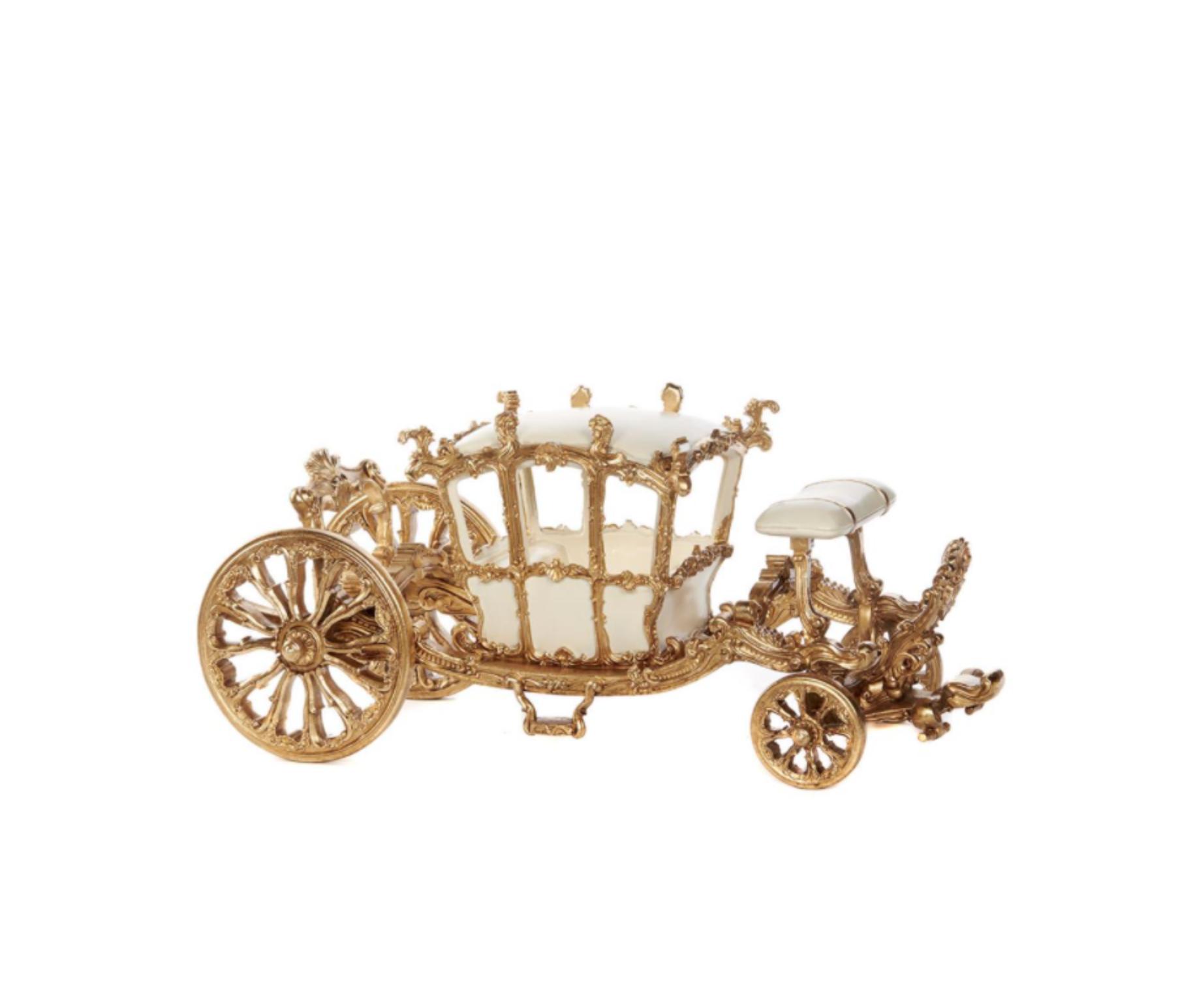Goodwill Miniatur kutsche gold - L57 cm