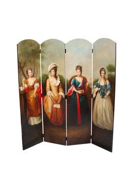 Folding screen Four Ladies