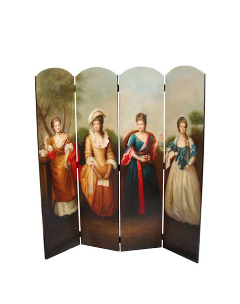 Folding screen Four Ladies - 169x160x2,5 cm