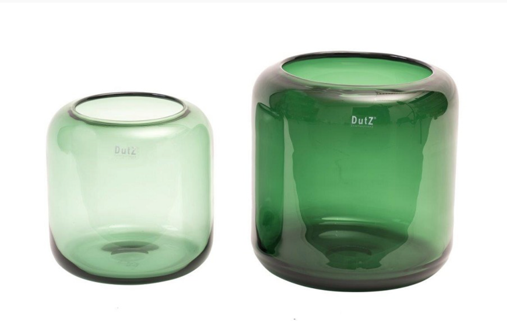 DutZ Groene vaas Mazurka green - H21/ H26 cm
