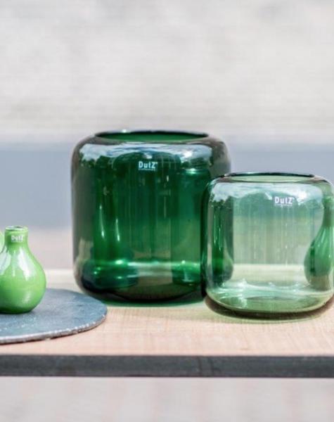 DutZ Grüne vase Mazurka green - H21/ H26 cm