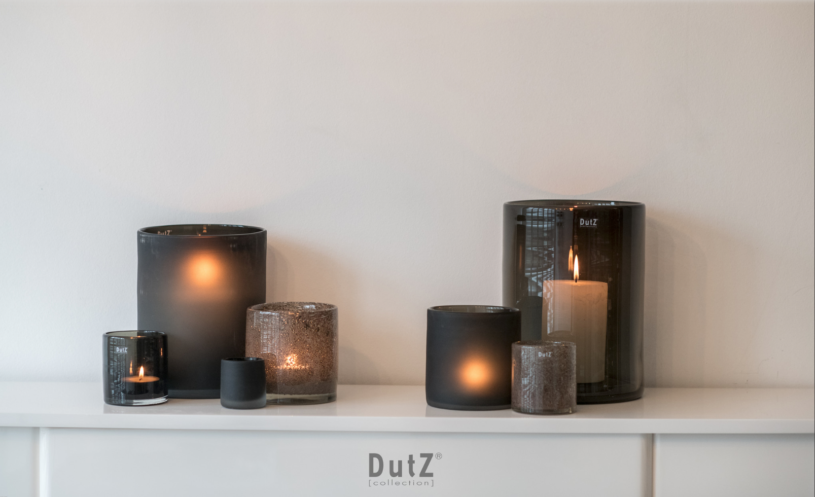 DutZ Windlichten smoke - Set van 7