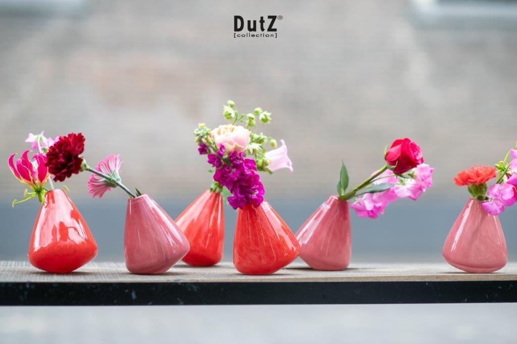 DutZ Vazen Tumbling cranberry - H12 cm