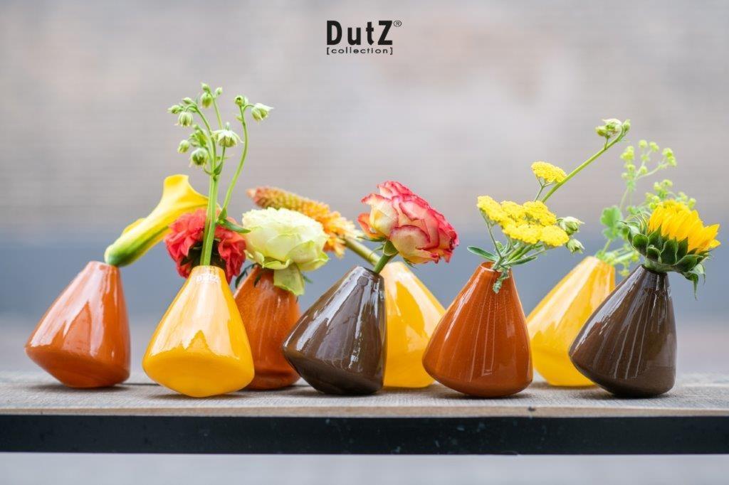 DutZ Glasvase Tumbling ocher - H12 cm