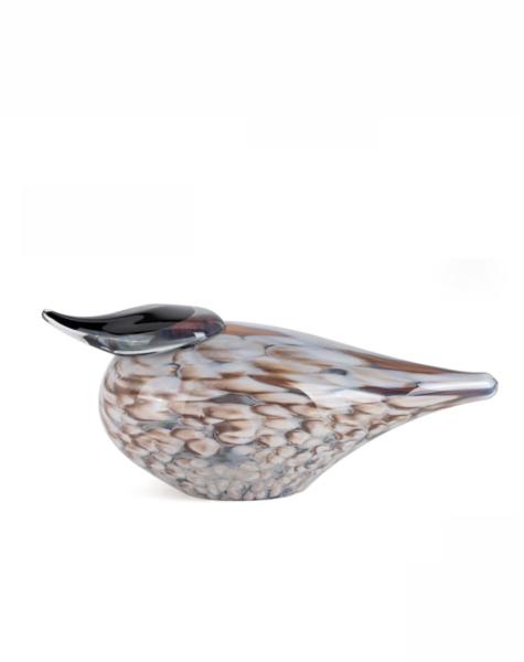 Fidrio Glass bird Hazel - H16 cm