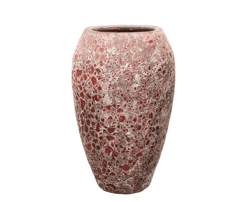 Bloempotten rood Lava - H95 cm