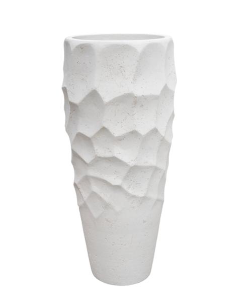 White planter Algiers - H110 cm