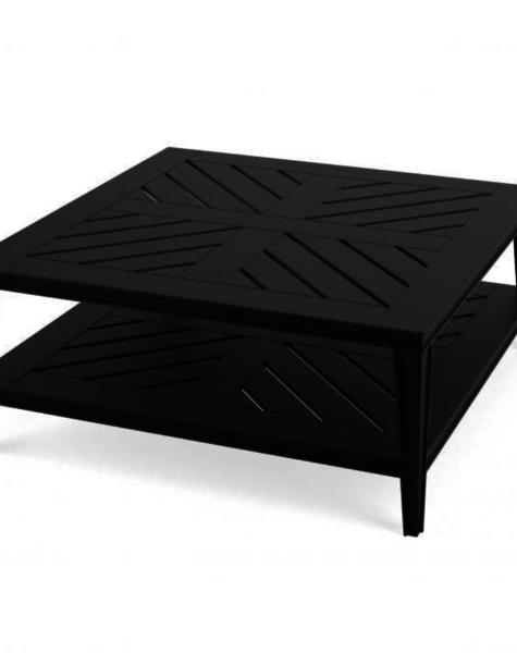 Eichholtz Black Coffee Table Bell Rive - L100 x B100 cm