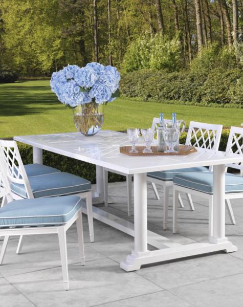 Dining Table Bell Rive Rectangular, Garden Dining Tables