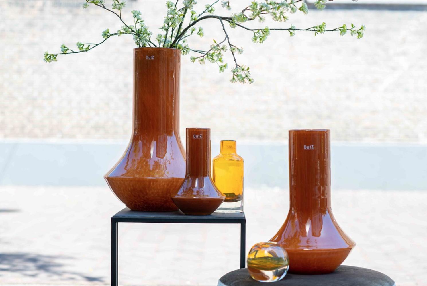 DutZ Orange vase Marco warm orange - H28/ H42/ H55 cm
