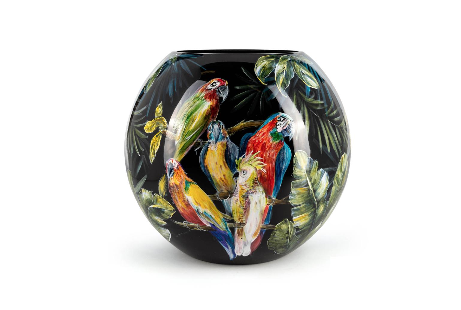 Fidrio Bolvase Parrots - D40 cm