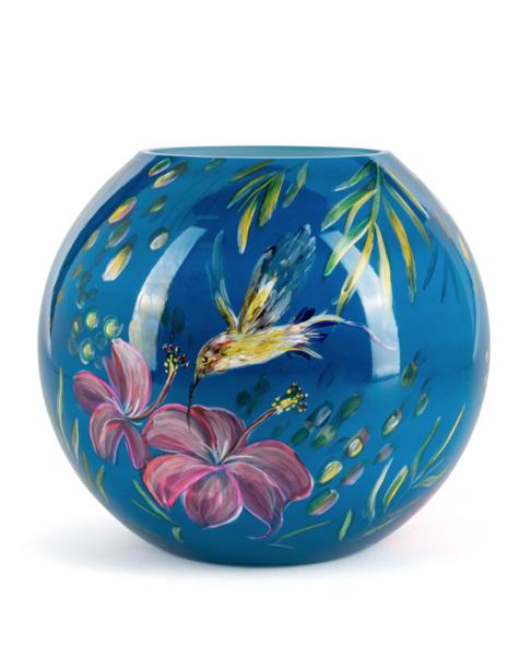 Fidrio Hand painted vase Kolibri - D25 cm
