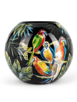 Fidrio Exclusive vases Parrots