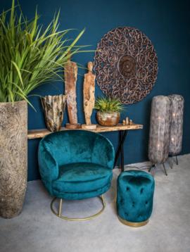 Blauwe fauteuil Eleganza