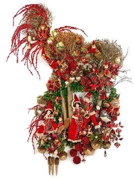 Goodwill Geschmückter Weihnachtskranz Woodland