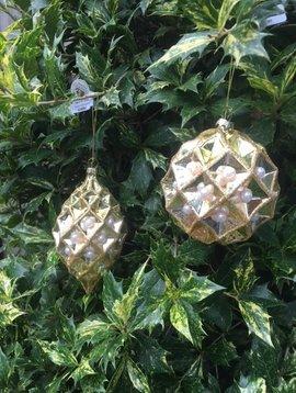 Goodwill Christmas ornaments honey gold