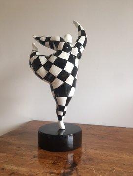 Dancing Ballerina Schwarz Weiss