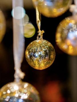 DutZ Weihnachtskugeln gold