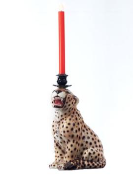 Candle holder Cheetah
