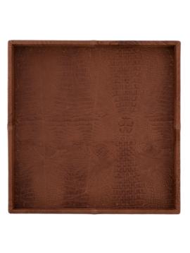 Leather plate croco cognac S