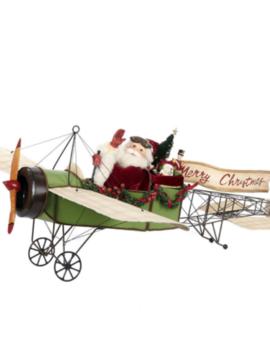 Goodwill Santa in old plane