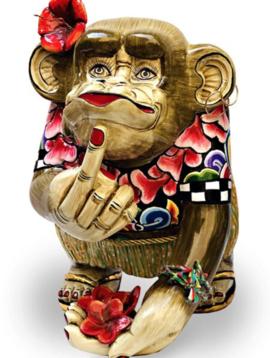 Affe Figur Middle Finger