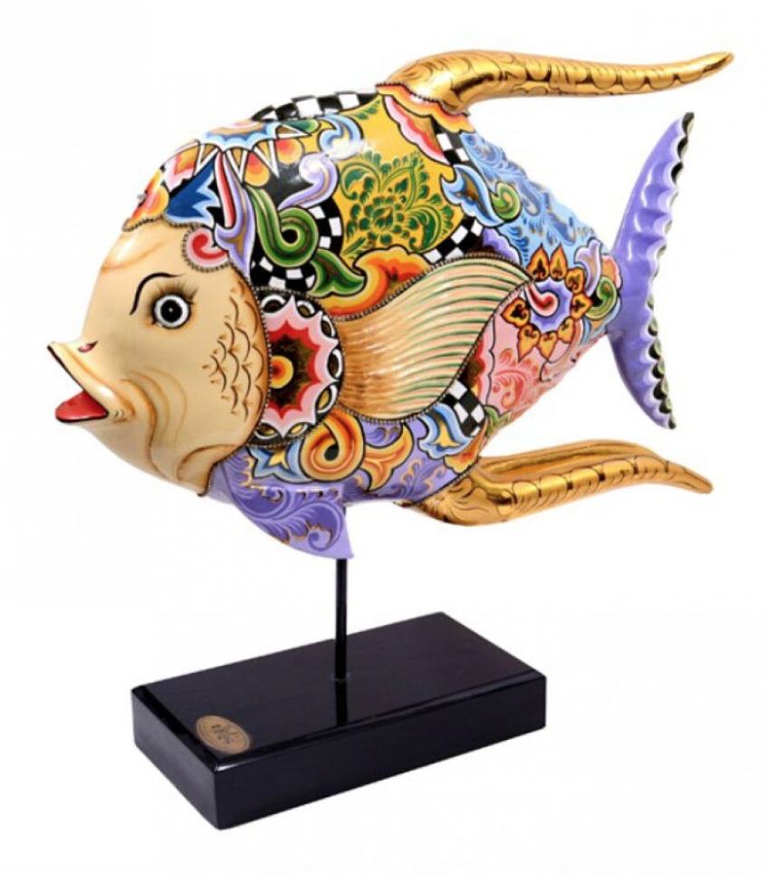 Fish figurine Purple Pride - H49 cm