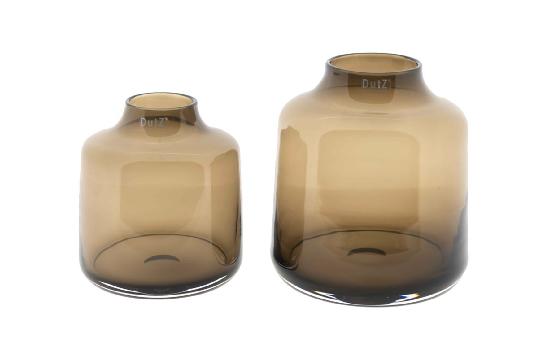 DutZ Vase Tisza smoky brown - H19/ H23 cm