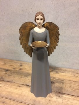 Angel figurine grey