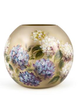 Fidrio Handbemalte Vase Hortensia