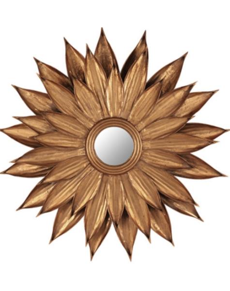 Mirror Gold Leaves - H87 cm