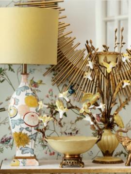 Luxe tafellamp Jaune