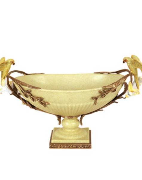 Bowl Yellow Parrots - L51 cm