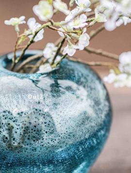 DutZ Vase round blue chips