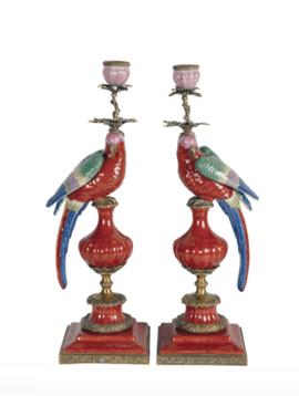Kandelaar papegaai rood
