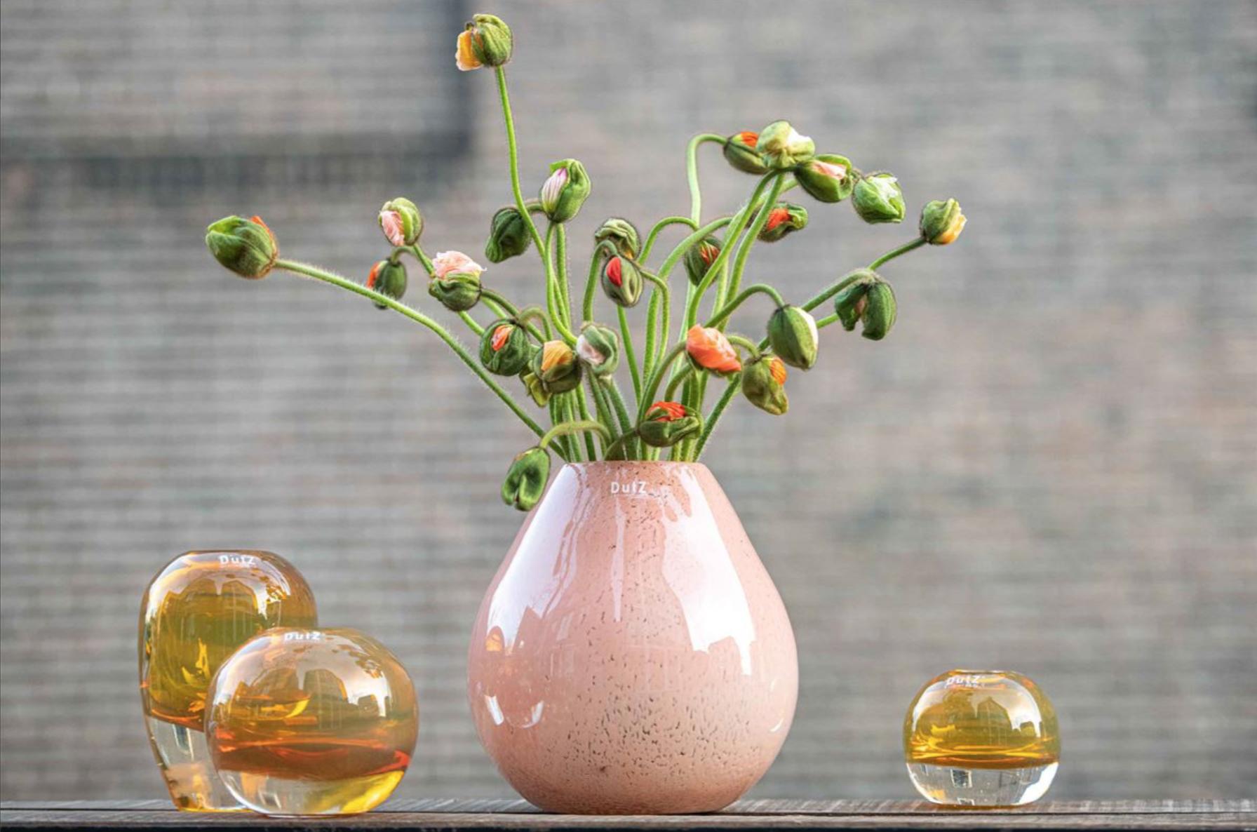 DutZ Rose Vase Druba apricot - H24 cm