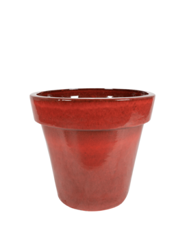 Red plant pot Marrakesh