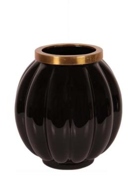 Vase shiny black