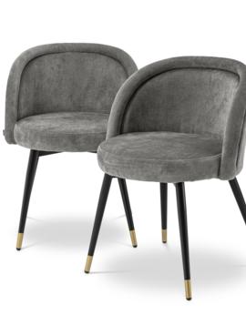 Eichholtz Grey dining chair Chloé