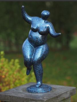 Bronzen beeld vrouw